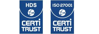 Logo certification HDS et ISO 27001