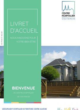 Page de garde du livret d'accueil de l'hôpital de Coutances